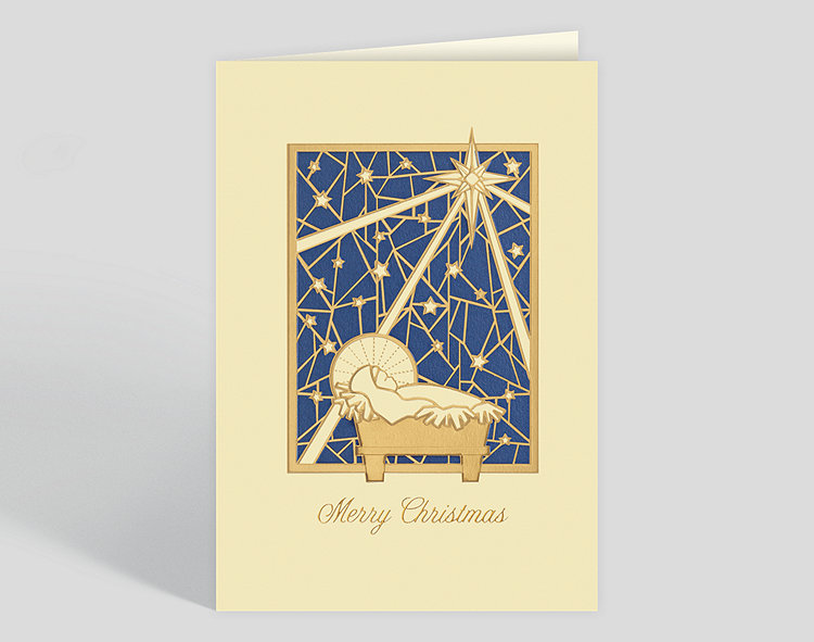 holy infant christmas card - Religious Christmas Cards