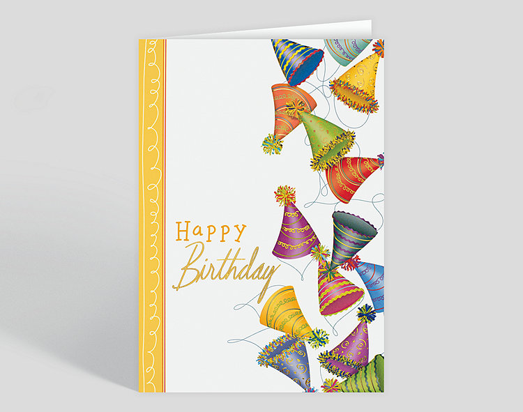 Eco friendly recycled paper greeting cards birthday hat jumble greeting card m4hsunfo