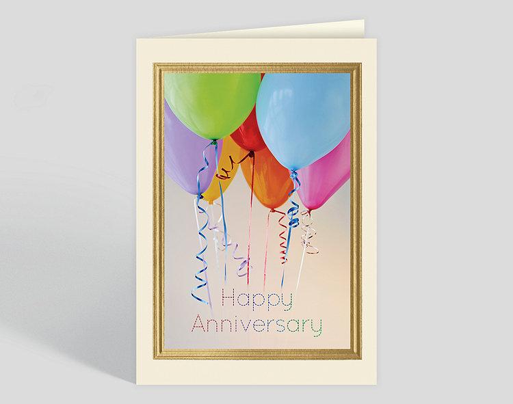Balloon Bunch Anniversary Card