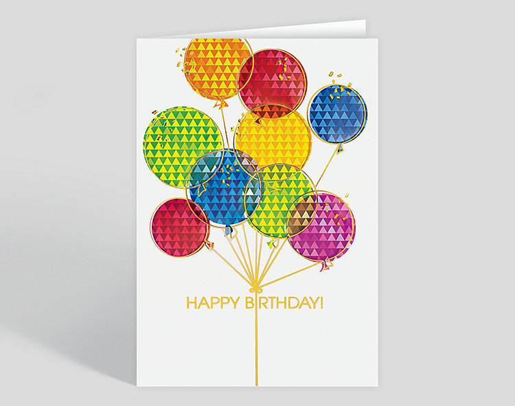 Prism Balloons Birthday Card Click To View Larger