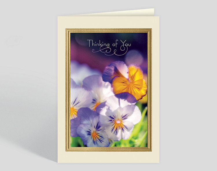 Thinking of You Pansies Card