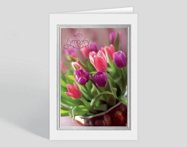 Tulip Bouquet Sympathy Card