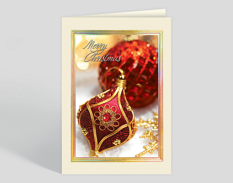 ornate ornaments christmas card click to view larger - Christmas Card Ornaments