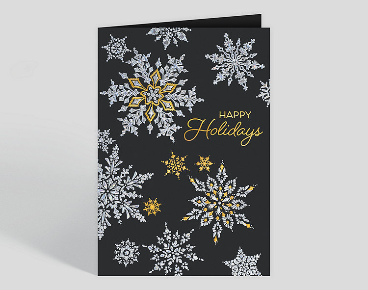 Snowflake Cascade Holiday Card