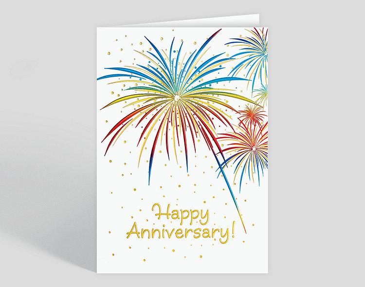 Anniversary Fireworks Card