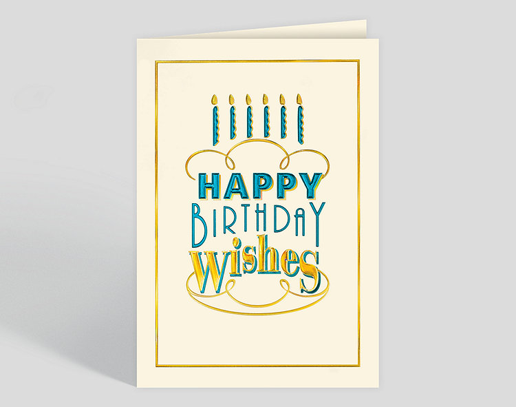 Birthday Cake Type Card Click To View Larger