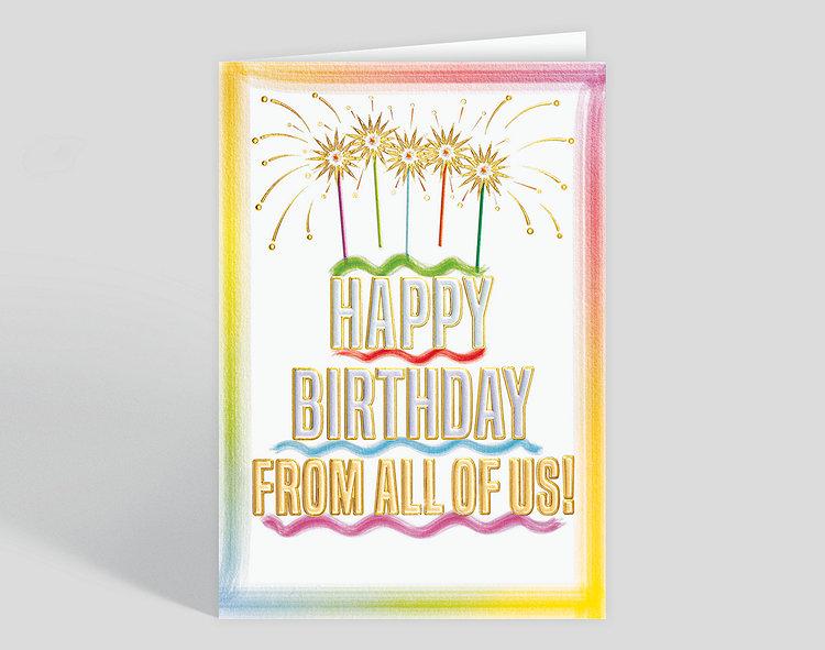 Sparkler Cake Birthday Card