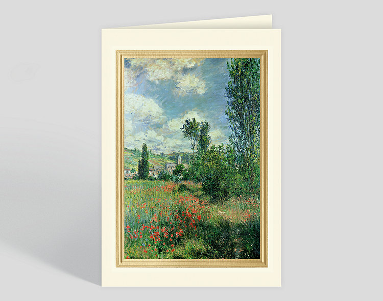 Path in Ile Saint Martin, Vetheuil Greeting Card – Greeting Cards