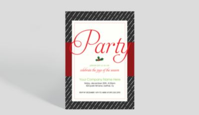 Lets Toast to Us Corporate Holiday Party Invitation 1023714
