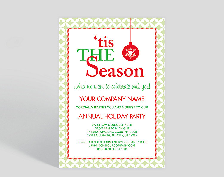 tis the season corporate party invitation 1023700 business