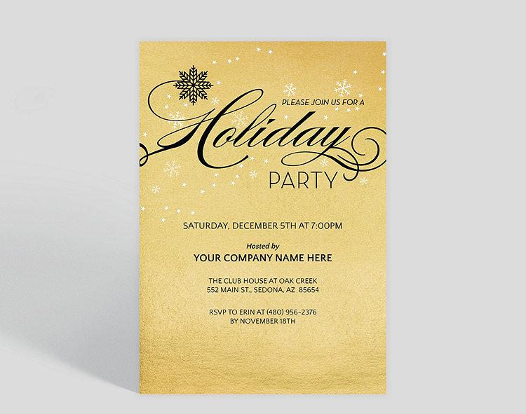 Gatsby Holiday Party Invitation