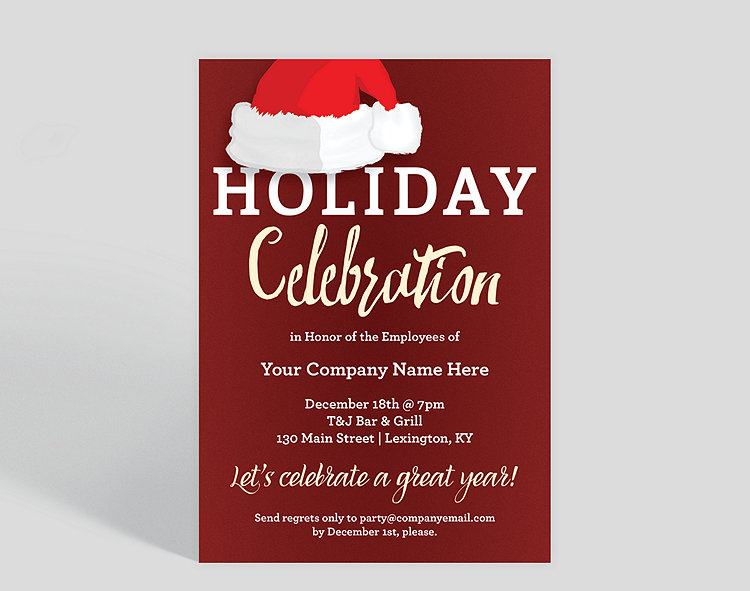holiday hat corporate party invitation 1025680 business christmas