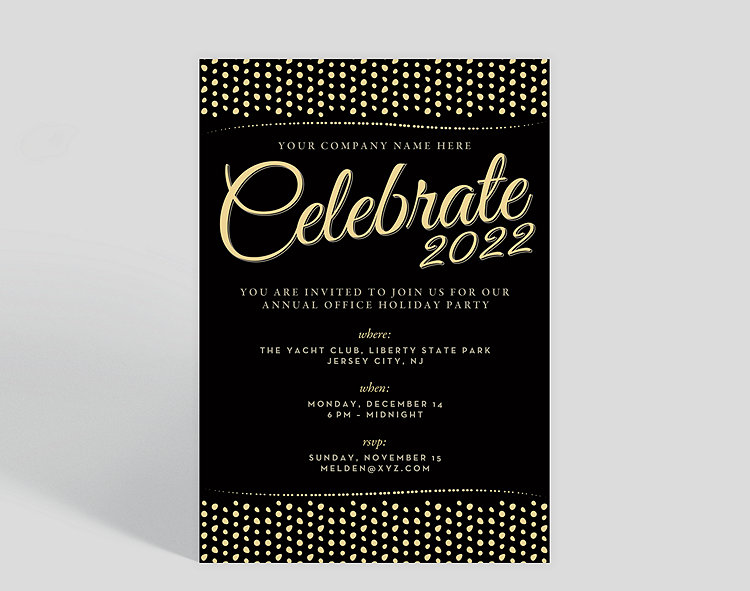 effervescent corporate party invitation 1027036 business