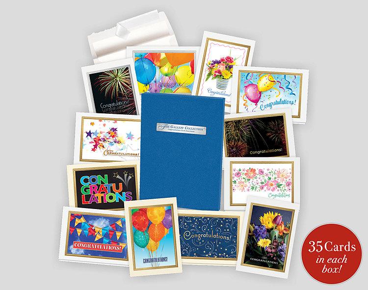 Congratulations card assortment box 701857 business christmas cards congratulations card assortment box reheart Gallery