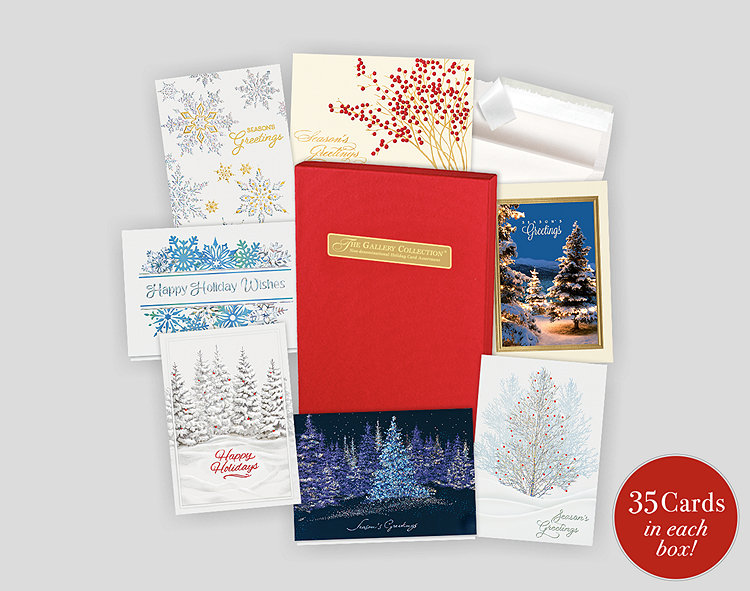 non denominational holiday card assortment box - Non Photo Christmas Cards
