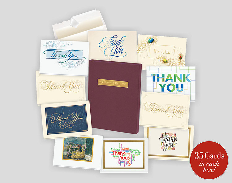 thank you card assortment box 701942  the gallery collection