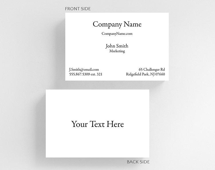Business basics text h1 business card credit card size 1027702 business card credit card size click to view larger colourmoves