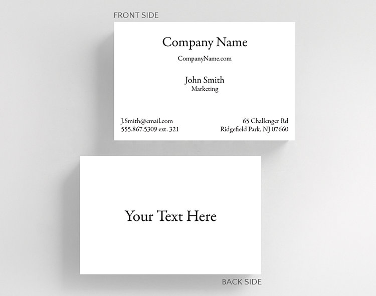 Business Basics Text H1 Business Card Credit Card Size ...
