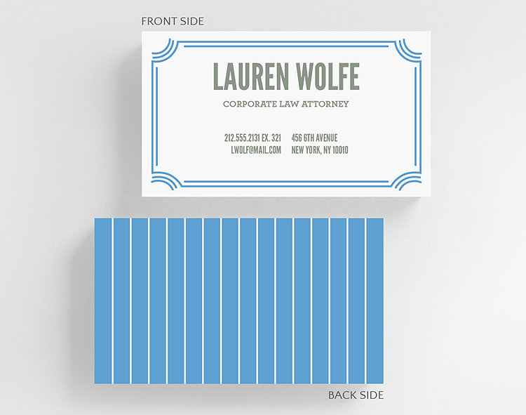 slim stripes business card standard size click to view larger - Business Card Standard Size