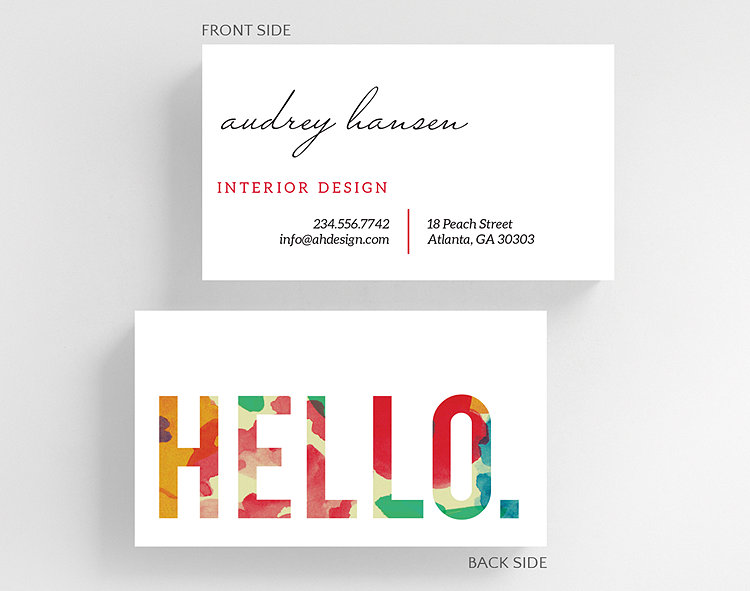 Floral hello business card standard size 1027503 business floral hello business card standard size click to view larger colourmoves