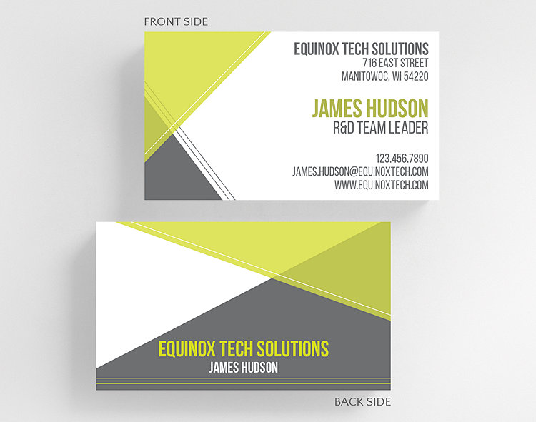 angles business card standard size click to view larger - Standard Size Business Card