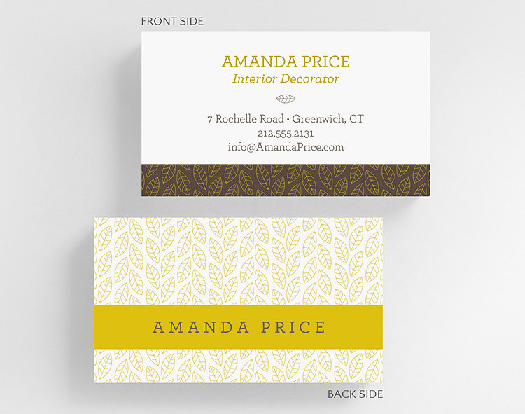 Foliage business card standard size 1027514 business christmas cards foliage business card standard size click to view larger colourmoves