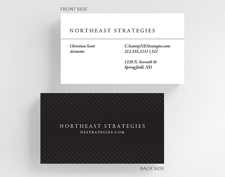 Pinstriped Business Card Standard Size 1027556 Business Christmas