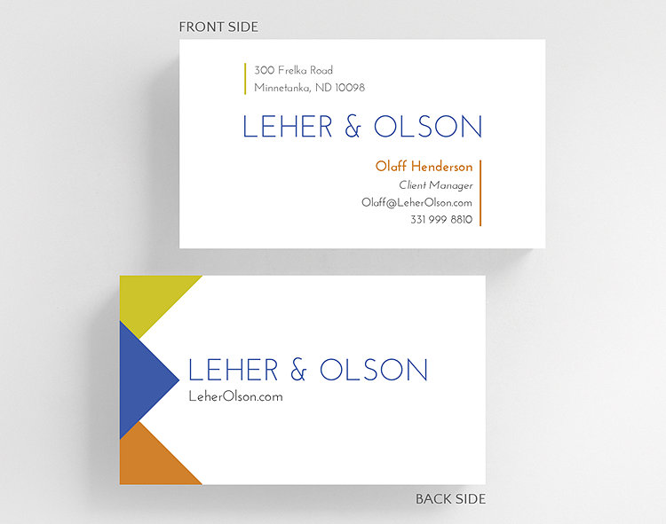 Clean triad business card standard size 1027575 business clean triad business card standard size click to view larger reheart Choice Image