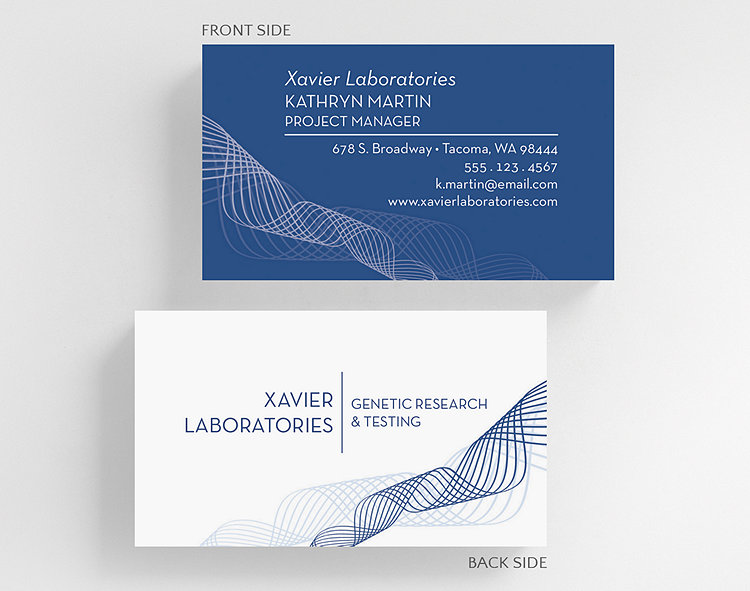 graphic waves business card standard size click to view larger - Standard Size Business Card