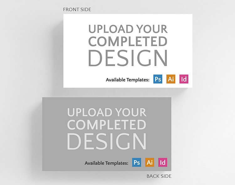 Upload your completed design horizontal business card standard size business card standard size click to view larger colourmoves