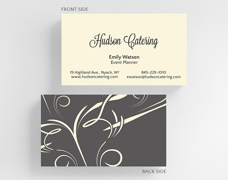 Elegant swirls business card standard size 1027797 business elegant swirls business card standard size click to view larger reheart Gallery