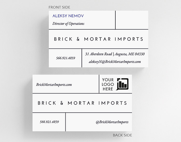 Bricks business card standard size 1027821 business christmas cards bricks business card standard size click to view larger colourmoves