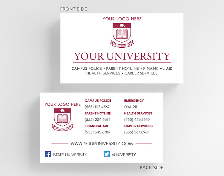 university business card standard size click to view larger - Business Card Standard Size