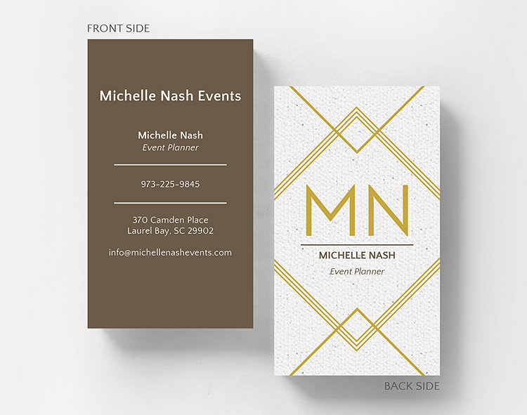 Texture & Lines Business Card Standard Size – Business Cards