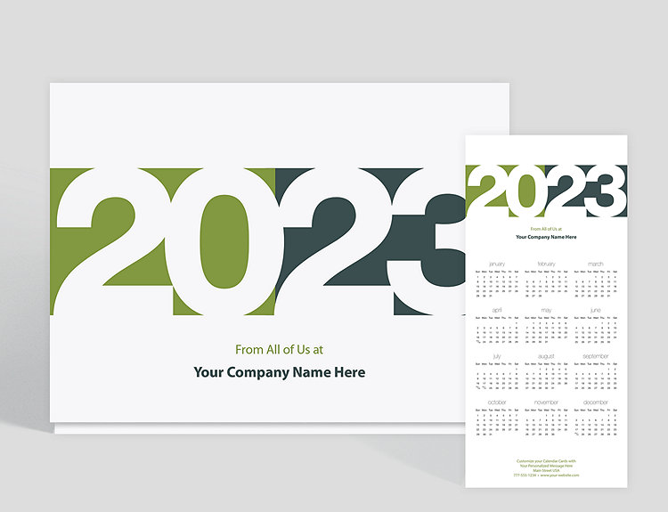 Blocks calendar card 1023783 business christmas cards blocks calendar card click to view larger reheart Image collections