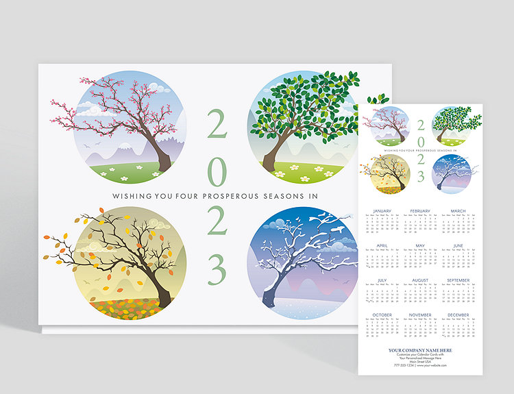 Seasons of prosperity calendar card 1027757 business christmas cards seasons of prosperity calendar card click to view larger reheart Choice Image