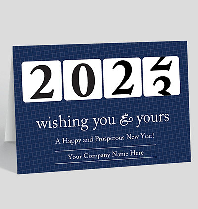 prosperous year new years card