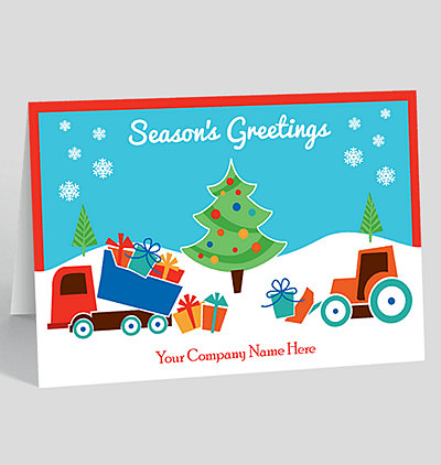 Construction pattern christmas card 1025555 business christmas cards special delivery christmas card reheart Image collections