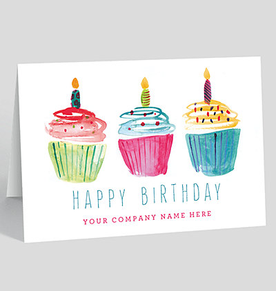 All Personal and Business Birthday Cards Personalized Greeting Cards – Cupcake Birthday Card