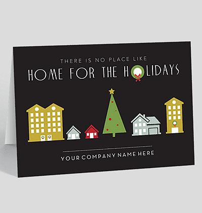 holiday homes card - Realtor Christmas Cards