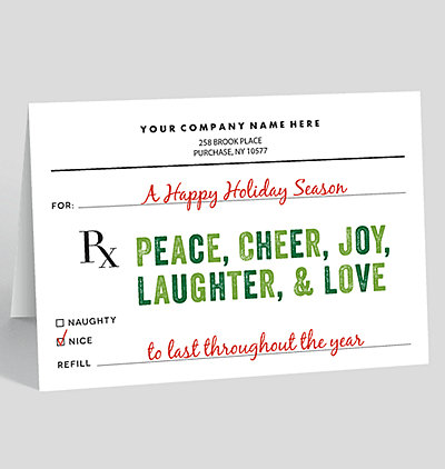 holiday scrip christmas card