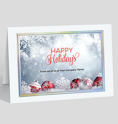 Editable Text Christmas Cards Front Personalized Holiday Cards