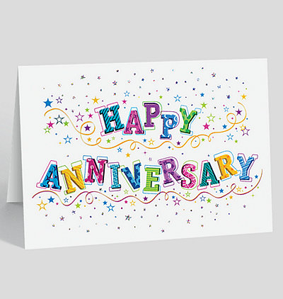 Glittering Anniversary Wishes Card