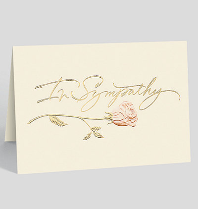 Sympathy Rose Card