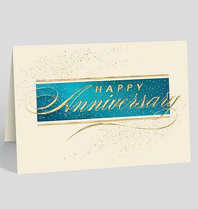 Anniversary Stardust Greeting Card