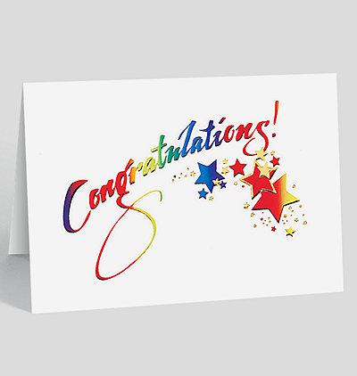 Sparkling Congratulations Card