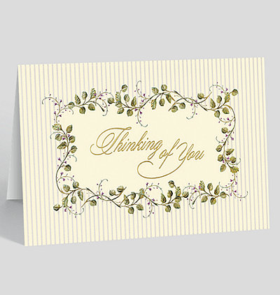 Flowering Vine Thinking of You Card