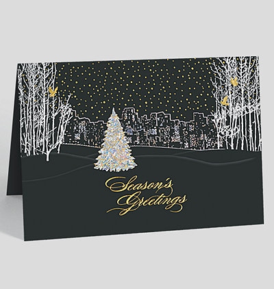 City Scene Holiday Cards