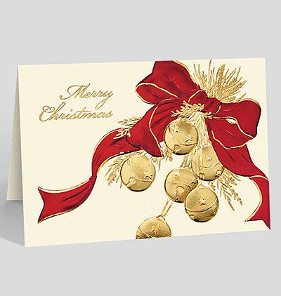 Merry Christmas Sleigh Bells Card