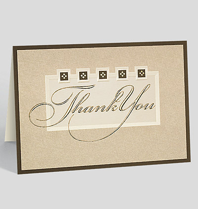 Thank You Elegance Thank You Card